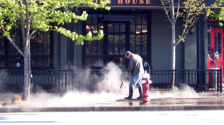 Power Washing cleaning