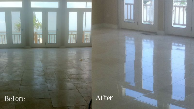 Stone Tile Grout Cleaning Quick Dry